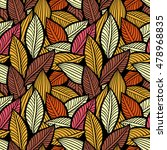 vector pattern with leaves....   Shutterstock .eps vector #478968835