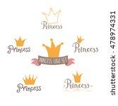 cute princess logo set in... | Shutterstock .eps vector #478974331
