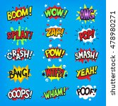 set of colorful comic speech... | Shutterstock .eps vector #478980271