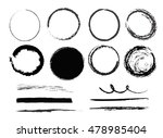 big set of empty  circles and... | Shutterstock .eps vector #478985404