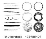 set of different strokes with ... | Shutterstock .eps vector #478985407