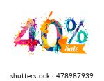 40  forty  percents sale.... | Shutterstock .eps vector #478987939