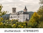Castle Rozmberk With Forest In...