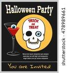 halloween zombie party... | Shutterstock .eps vector #478989661
