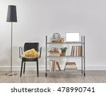 modern bookcase and accessories ... | Shutterstock . vector #478990741