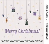 template for christmas cards ... | Shutterstock . vector #478995409