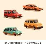 set of dirty vintage american... | Shutterstock .eps vector #478996171