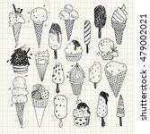 hand  drawn ice cream vector...   Shutterstock .eps vector #479002021