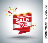 sale vector banner   discount... | Shutterstock .eps vector #479009251