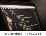 html and css code developing... | Shutterstock . vector #479011165