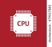circuit board icon . cpu symbol ...