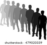 silhouette of a man.   Shutterstock .eps vector #479020339