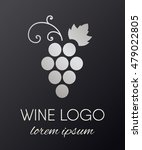 silver gradient grapes logo....   Shutterstock .eps vector #479022805