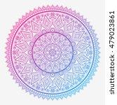 flower mandala. vintage... | Shutterstock .eps vector #479023861