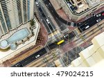 Colorful Aerial View Of A Road...