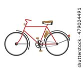 vintage retro bicycle set and... | Shutterstock .eps vector #479024491