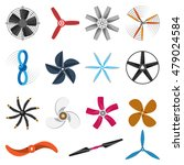 set of fans and propellers... | Shutterstock .eps vector #479024584