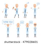 set of old professor characters ... | Shutterstock .eps vector #479028601