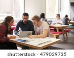group of university students... | Shutterstock . vector #479029735