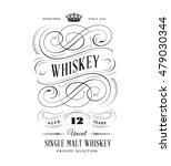 whiskey label logo | Shutterstock .eps vector #479030344