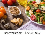 healthy chicken caesar salad... | Shutterstock . vector #479031589