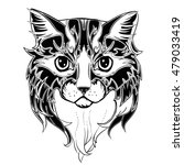the head of cat. hand drawn ink ... | Shutterstock .eps vector #479033419