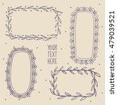 set of decorative frames hand...   Shutterstock .eps vector #479039521