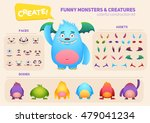 cute cartoon monster creation... | Shutterstock .eps vector #479041234