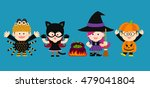 vector illustration   halloween ... | Shutterstock .eps vector #479041804