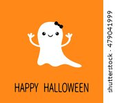 funny baby girl ghost with... | Shutterstock .eps vector #479041999