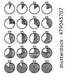 hand drawn vector felt tip pen... | Shutterstock .eps vector #479045707