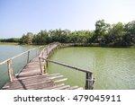 the old wood bridge in lake of... | Shutterstock . vector #479045911