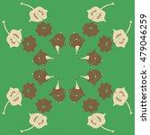 circular  pattern with pumpkins ...   Shutterstock . vector #479046259