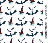 halloween seamless pattern bat... | Shutterstock .eps vector #479046721