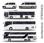 busses  vans and minivans. big... | Shutterstock .eps vector #479053621