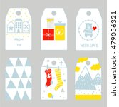 collection of christmas gift... | Shutterstock .eps vector #479056321