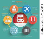 logistic cargo info graphic... | Shutterstock .eps vector #479063851