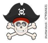 laughing pirate skull. vector... | Shutterstock .eps vector #479064631