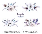 set of watercolor vintage... | Shutterstock . vector #479066161