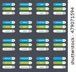 set of vector web interface... | Shutterstock .eps vector #479071594