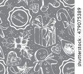 seamless decorative pattern... | Shutterstock .eps vector #479075389