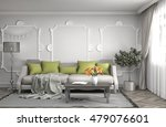 interior with sofa. 3d... | Shutterstock . vector #479076601