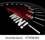 A Speedometer With Red Needle...