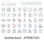 set vector line icons in flat... | Shutterstock .eps vector #479087101