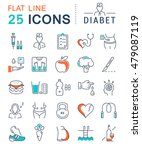 set vector line icons in flat... | Shutterstock .eps vector #479087119