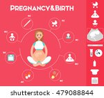 pregnancy infographics set with ... | Shutterstock .eps vector #479088844