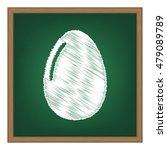 chiken egg sign. flat style...