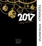 2017 happy new year card or... | Shutterstock .eps vector #479093551