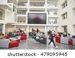 students in front of screen in... | Shutterstock . vector #479095945