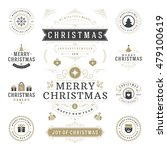 christmas labels and badges... | Shutterstock .eps vector #479100619